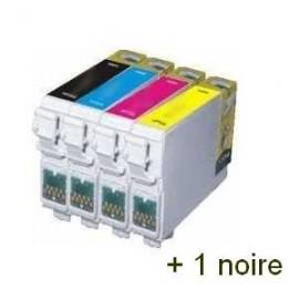 Cartouche pack noir+couleur compatible Epson C13T12854010