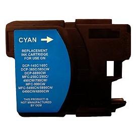 cartouche cyan pour imprimante Brother Dcp 145c équivalent LC1100HYC