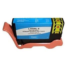 cartouche cyan pour imprimante Lexmark Pro715 équivalent 14N1615E - N°150XL