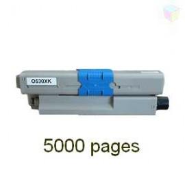 toner noir pour imprimante Oki C510dn équivalent 44469804