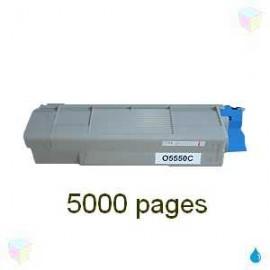 toner cyan pour imprimante Oki C5550 équivalent 43324423