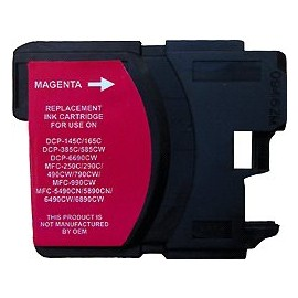 cartouche magenta pour imprimante Brother Dcp 145c équivalent LC1100HYM