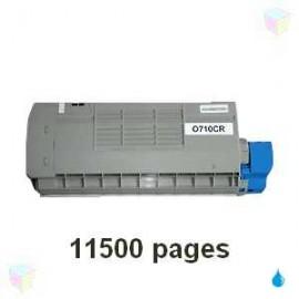 toner cyan pour imprimante Oki C710 équivalent 44318607