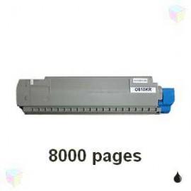 toner noir pour imprimante Oki C810 équivalent 44059108