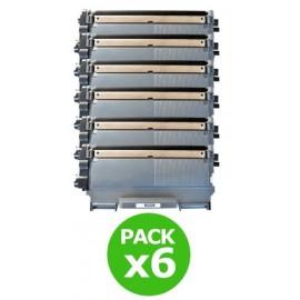 Pack 6 toners pour imprimantes Brother équivalent TN 2220