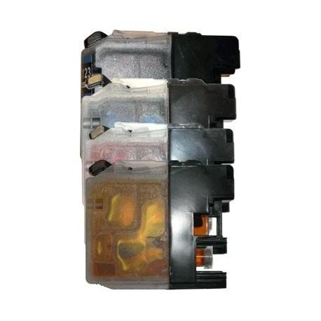 cartouche pack noir+couleur pour imprimante Brother Dcpj132w équivalent LC123 VALUE PACK