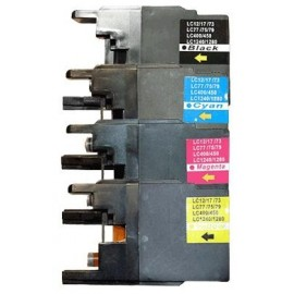 toner pack noir+couleur pour imprimante Brother Dcpj525n équivalent LC1240 VALUE PACK