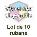 Ruban matriciel compatible ir60/dp600 black/red - Lot de 10