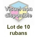 Ruban matriciel compatible epson erc 02 black - Lot de 10