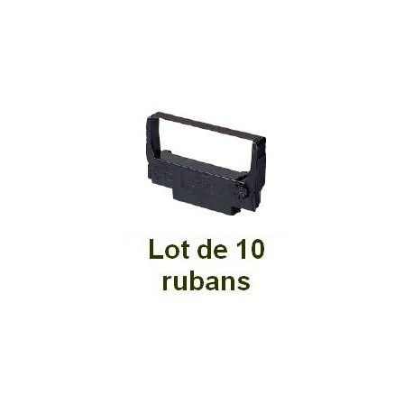 Ruban matriciel compatible epson erc 30/34/38 black/red - Lot de 10