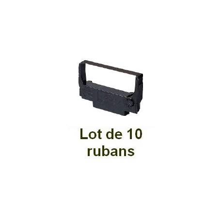 Ruban matriciel compatible epson erc 30/34/38 black/red - Lot de 10