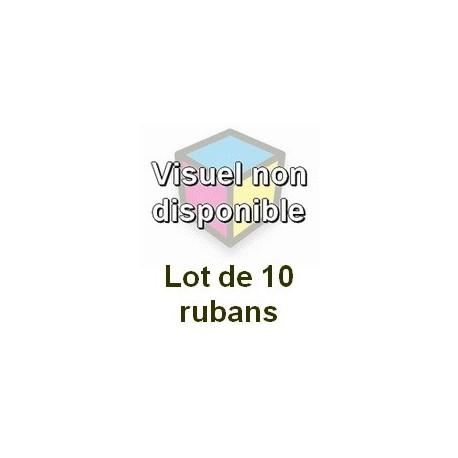 Ruban matriciel compatible epson s015055 noire 15 millions de carracteres - Lot de 10