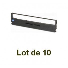 Ruban compatible epson (s015021 s015637) noir - Lot de 10