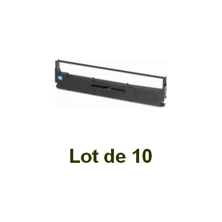 Ruban compatible epson lq-800 (s015021) noire - Lot de 10