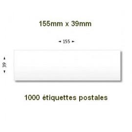 Boite de 1000 étiquettes postales 155 x 39 blanches