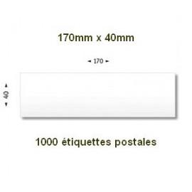 Boite de 1000 étiquettes postales 170 x 40 blanches