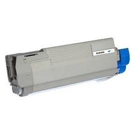 toner cyan pour imprimante Oki C5850 équivalent 43865723