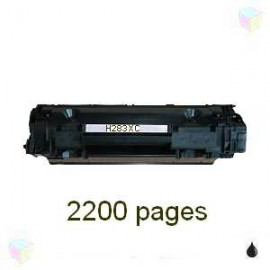 Toner noir compatible HP CF283X - Canon CRG737