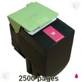 toner compatible 80C2SC0 magenta pour Lexmark Cx310dn