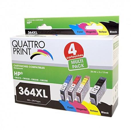 Pack Quattro Print HP364XL 4 cartouches compatibles