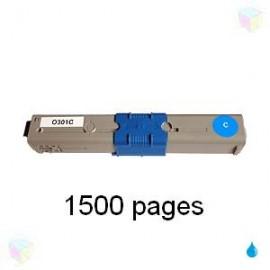 toner compatible 44973535 cyan pour Oki C301