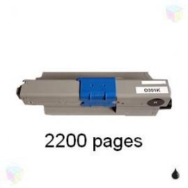 toner compatible 44973536 noir pour Oki C301