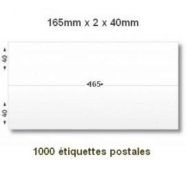 Boite de 1000 étiquettes postales 165 x (2x40) blanches