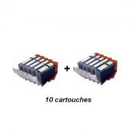 cartouche compatible CLI-521 pack noir+couleur pour Canon 7400