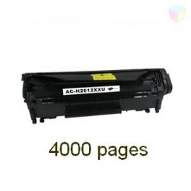 Toner noir compatible Q2612A 4000 pages - EP703XL