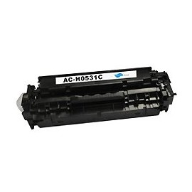 toner cyan pour imprimante HP Color Laserjet Cm 2320 Mfp équivalent CC531A